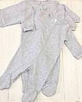 Однотонный  комплект слипов для малыша  из трех единиц Меланж, фото 2