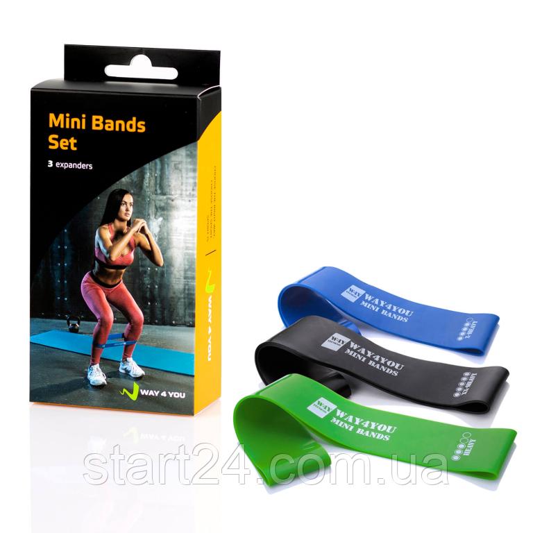 Набор резинок для фитнеса Mini Band (в комплекте 3 шт)