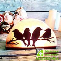 Соляная лампа «Птицы на ветке» 1,5 кг