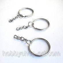 Кольцо для ключей с цепью (100 шт в уп)