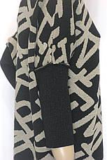 Вязаное объемное трикотажное платье оверсайз, фото 3