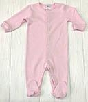 Разноцветный Детский комплект комбинезончиков  из трех единиц Разноцветные розовый+меланж+белый, фото 2