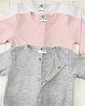 Детский комплект из трех единиц Разноцветные розовый+меланж+белый, фото 3