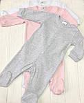 Детский комплект из трех единиц Разноцветные розовый+меланж+белый, фото 4