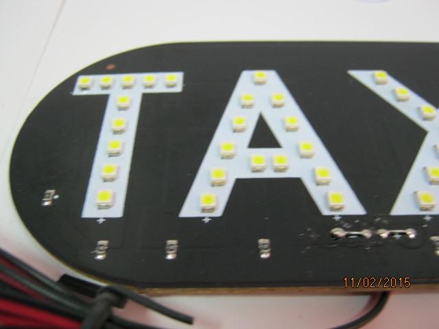 Знак такси светодиодный.