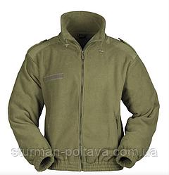 Куртка чоловіча флісова армійська флісова KÄLTESCHUTZJACKE FLEECE колір олива Mil-Tec Німеччина
