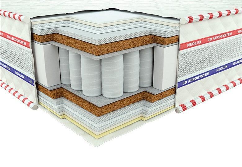 Ортопедический Матрас Кинг зима-лето 3D  TM Neolux