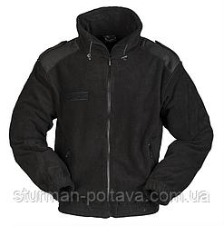 Куртка мужская  флисовая  армейская KÄLTESCHUTZJACKE FLEECE  Mil-Tec   цвет  черный размер M  Германия