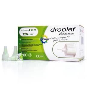 Иглы Droplet 4мм 32G для шприц-ручек инсулиновых, фото 2