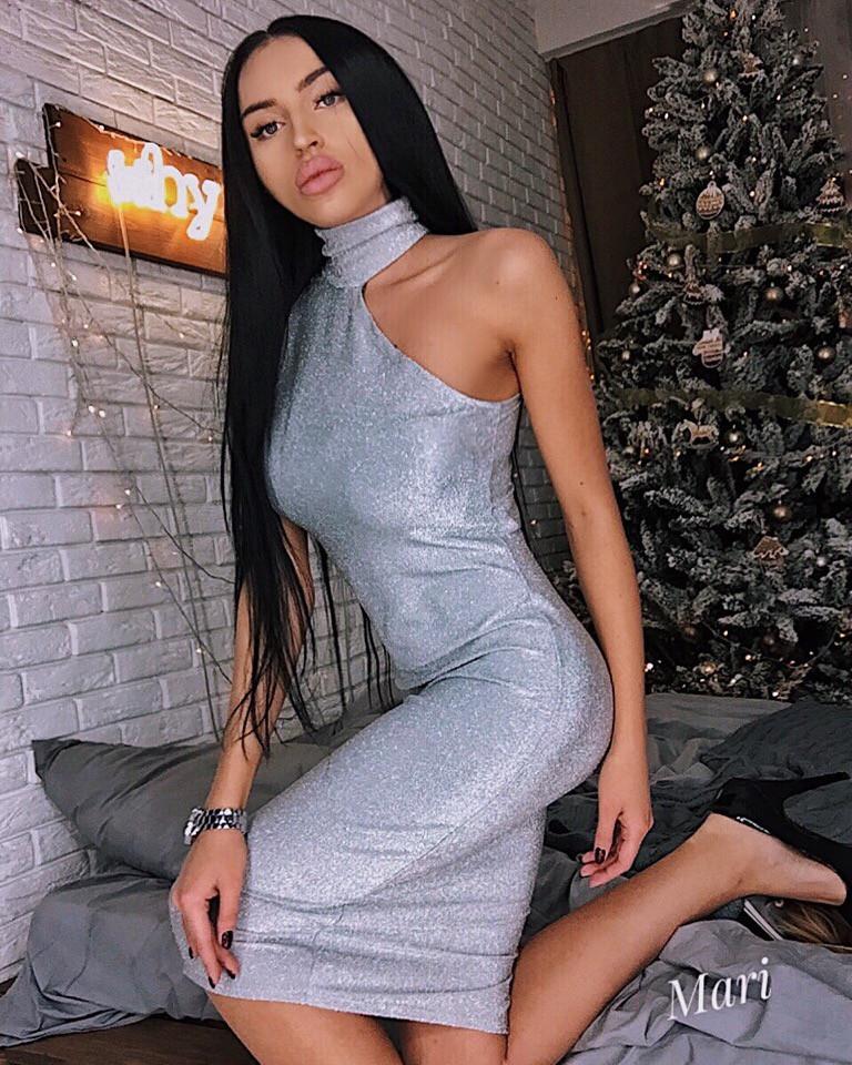 152d5262158 Вечернее платье с необычным оформлением горла с люрексом праздничное  красивое разные цвета Smmil2870 - Shoppingood в