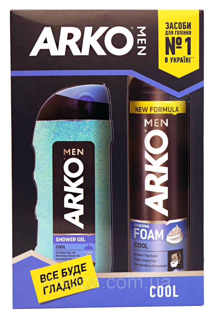 Косметический набор Arko Men Cool Охлаждающий (пена для бритья+гель для душа-20%)