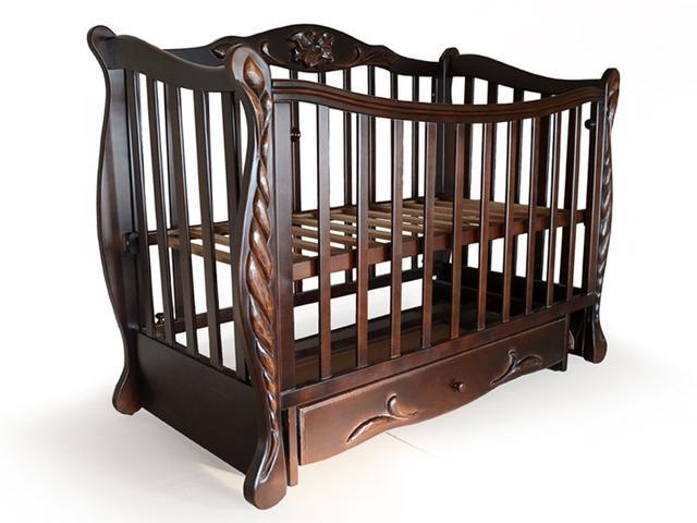 Детская кроватка Верес Соня ЛД 13 маятник, ящик (слоновая кость)