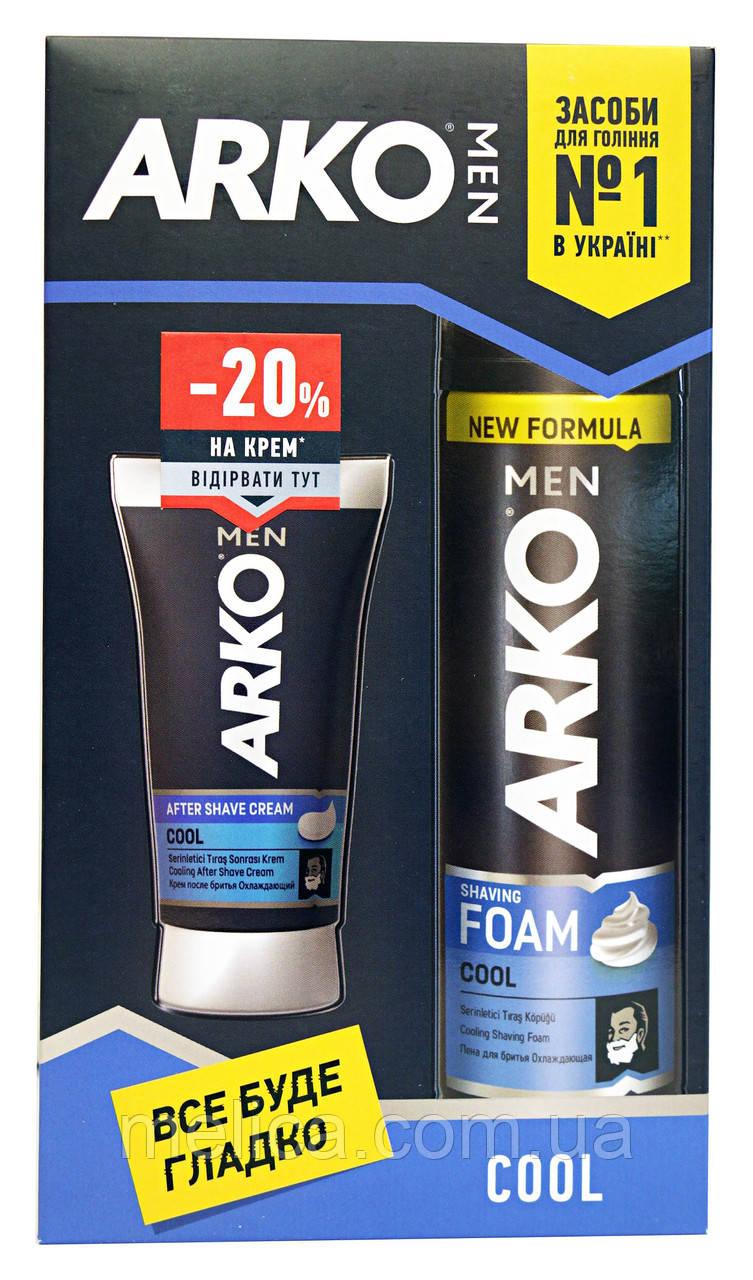 Косметический набор Arko Men Cool Охлаждающий (пена для бритья+крем после бритья-20%)