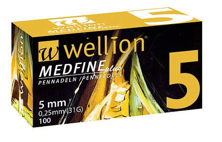 Иглы инсулиновые Wellion Medfine 5мм, 31G, фото 2