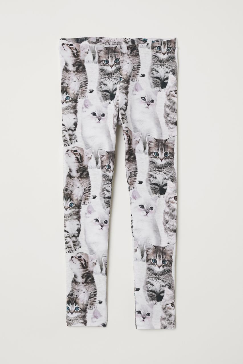 Лосины с котятами H&M  для девочек 1,5, 2, 3, 4, 5, 6, 7 лет