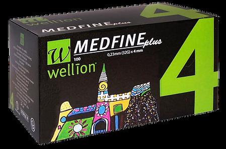 Иглы инсулиновые Wellion Medfine 4мм, 32G - Веллион Медфайн 4мм, фото 2