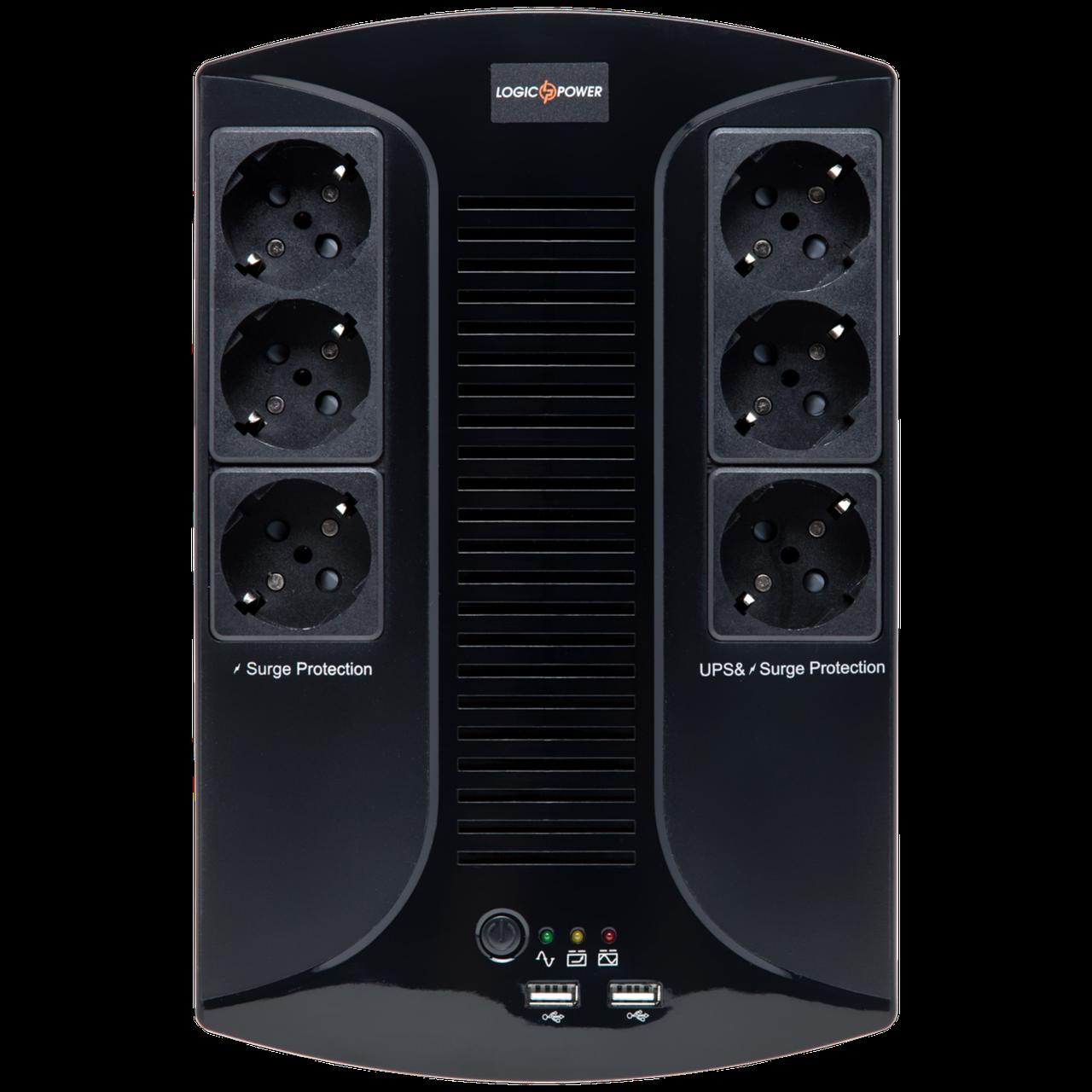 ИБП линейно-интерактивный LogicPower LP 850VA-6PS