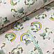 Ткань поплин единороги с радугой на розовом (ТУРЦИЯ шир. 2,4 м) №32-174, фото 2