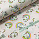 Ткань поплин единороги с радугой на розовом (ТУРЦИЯ шир. 2,4 м) №32-174, фото 3