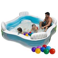Надувной детский бассейн Intex с шариками 30 шт.