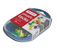Кнопки-гвоздики Optima, в пласт. коробке, 36 шт