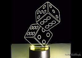 """Стильная лампа-ночник """"Кости"""" 1090 с 3D эффектом, светодиодная"""