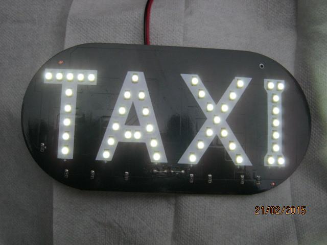 Знак такси светодиодный в салон.