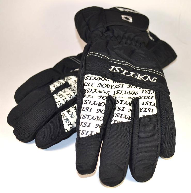 Зимние теплые лыжные перчатки ЧЕРНЫЕ Женские