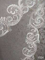 Фата с вышивкой № 1524 удлиненная