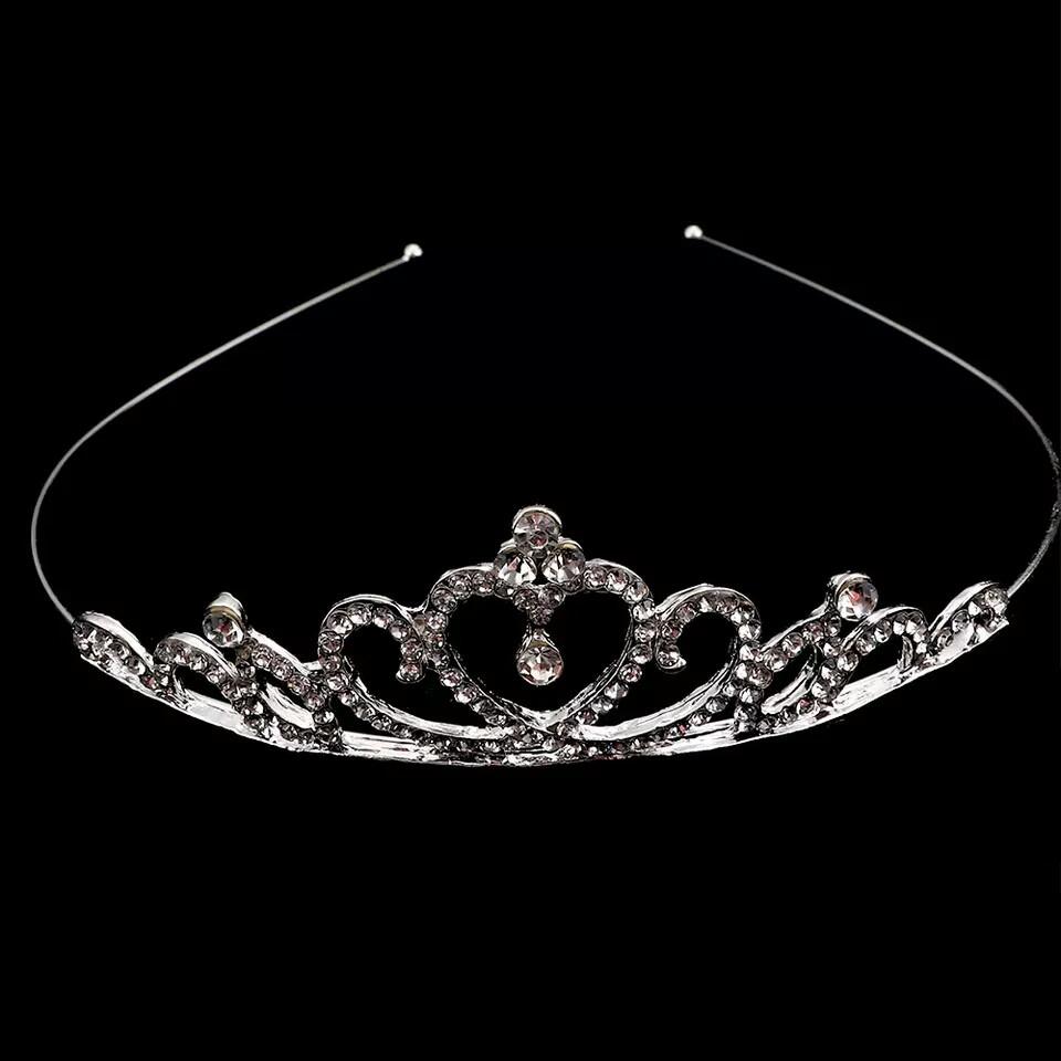 Диадема, детская корона, серебристая
