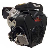 Бензиновый двигатель WEIMA WM2V78F (20 л.с.,2 цилиндра, вал шпонка 25,4 / конус)