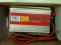 Преобразователь инвертор 12V-220V UKC 200W USB