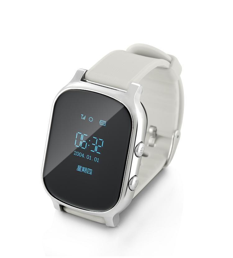 Смарт часы-телефон с GPS T58 серебро