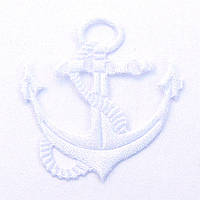 Якорь 4*3,8 см (материал атлас) цвет белый