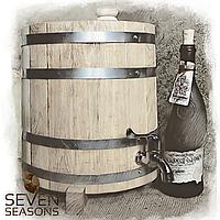 Жбан дубовый вертикальный (бочка) для вина, коньяка, спирта Seven Seasons™, 15 литров, Пластик