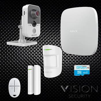 Комплект сигнализации Ajax StarterKit + IP видеокамера Hikvision