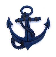 Якорь 4*3,8 см (материал атлас) цвет синий