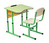 Парта+стілець антискалиозные з регулюванням висоти одномісне та двомісне