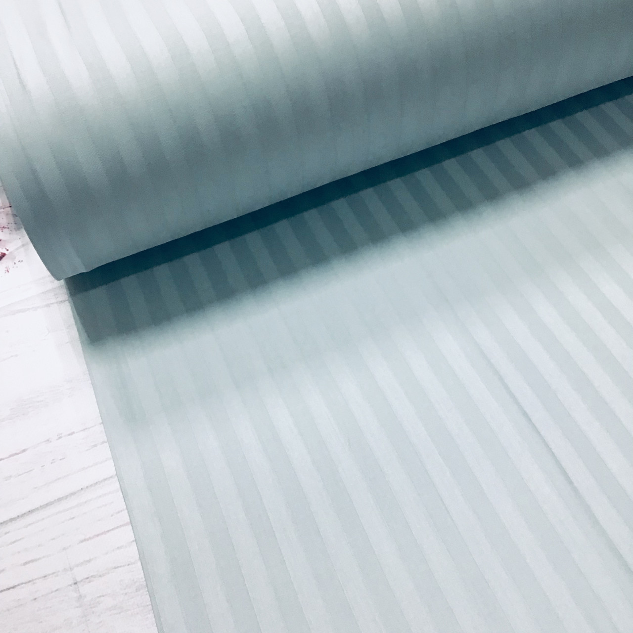 Сатин 100% хлопок  (ТУРЦИЯ шир. 2,4 м) Stripes лазурный