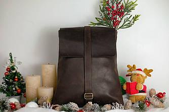 Женский рюкзак-трансформер  11982  Винтаж   Шоколад