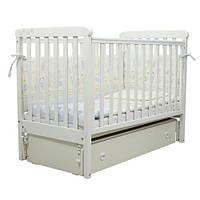 Кроватка детская Верес Соня ЛД12  маятник белая