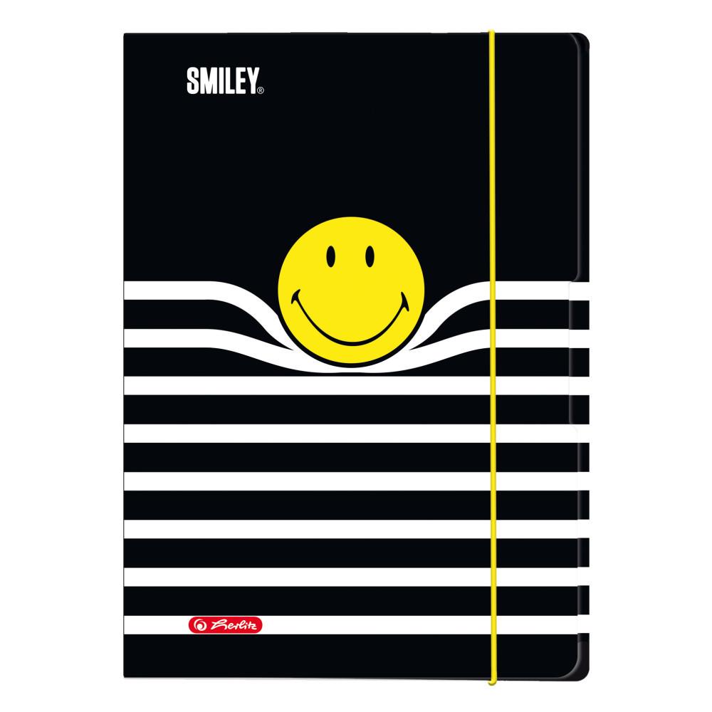 Папка картонная на резинке Herlitz А3 Smiley World Stripes (50016075)