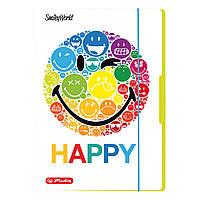 Папка картонная на резинке Herlitz А4 Smiley World Rainbow (50001675), фото 1