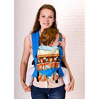 Эргономичный рюкзак Sunny Зверята, с ушками (лен с хлопком), фото 1