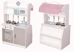 Деревянная кухня-киоск для детей Ecotoys PLK530 + набор посуды, фото 2
