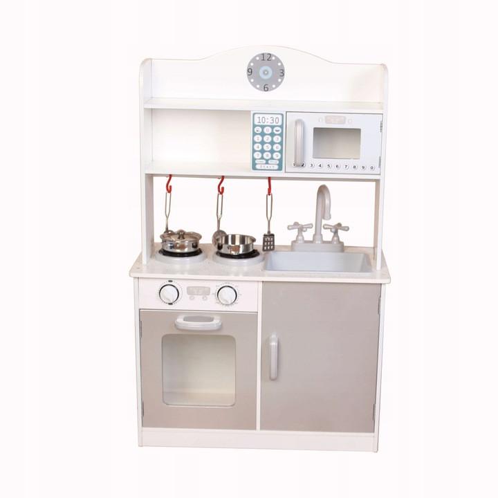 Деревянная кухня-киоск для детей Ecotoys PLK530 + набор посуды