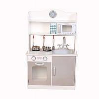 Дерев'яна кухня-кіоск для дітей Ecotoys PLK530 + набір посуду