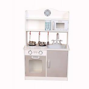 Дерев'яна кухня-кіоск для дітей Ecotoys PLK530 + набір посуду, фото 2
