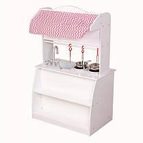 Деревянная кухня-киоск для детей Ecotoys PLK530 + набор посуды, фото 3