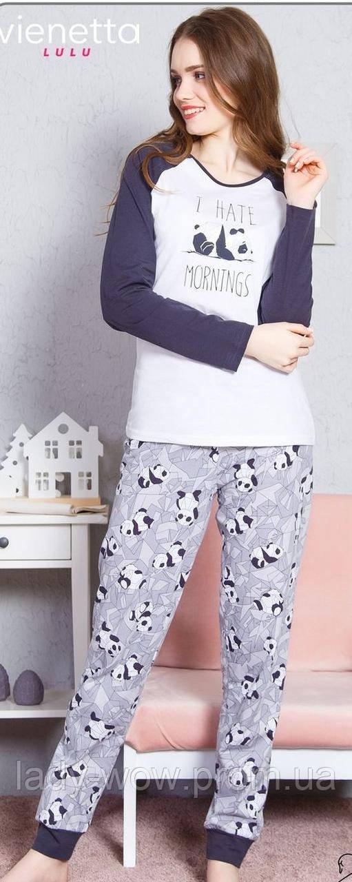 Женская хлопковая пижама Vienetta Secret  Размер L, фото 1